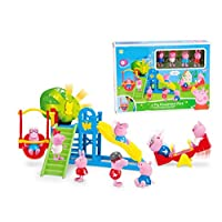 Peppa pig Family slide amusement park With Four pigs Action Figures