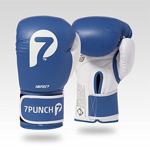 7Punch Boxhandschuhe Impact Leder blau