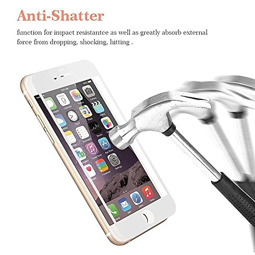 frixie (TM) per Iphone77Plus/colorata copertura completa 9H protezione per lo schermo in vetro temperato 3d Touch temperato HD Pellicola Protettiva 4.75.5pollici Black Iphone 7 Plus White Iphone 7 Plus