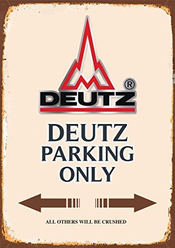 Deutz Parking only blechschild auto motorrad park schild