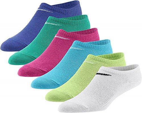 Mädchen Für Nike-socke (Nike 6PPK GIRLS NON-CUSH NO SHOW-M - Socken Mädchen , Fucsia, One grösse)