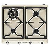 Smeg sr964pgh Platte–Platten (integriert, Gas, creme, Gusseisen, drehbar, vor)