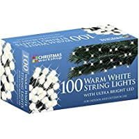 The Christmas Workshop 100 LED String Lights, Warm White