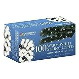 The Christmas Workshop 100 LED String Lights, Warm White