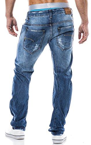 LEIF NELSON Herren Jeans Jeanshose LN1219 Blau