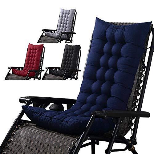 51sNW40pITL. SS500  - PROKTH Universal Sun Lounger Cushion High Back Rocking Chair Cushion Thick Replacement Rattan Chair Cushion Sofa Cushion Seat Cushion Pad 125 x 45 x 8cm