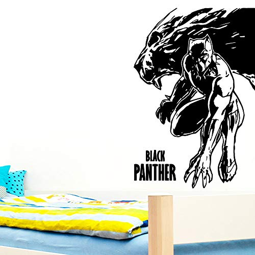 ljradj Black Panther VinylWandaufkleber WandtattoosFür Kinderzimmer Dekoration Zubehör Wanddekor Aufkleber Wandbild87 cm X 127 cm -