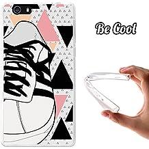 Becool® Fun - Funda Gel Flexible para Elephone M2, Carcasa TPU fabricada con la mejor Silicona, protege y se adapta a la perfección a tu Smartphone y con nuestro exclusivo diseño. Zapatilla de deporte blanca