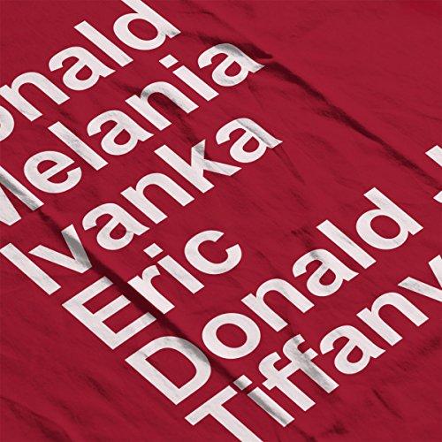 Arial Trumps Donald Trump Women's Hooded Sweatshirt Cherry Red