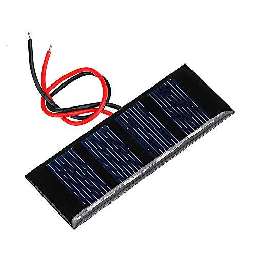 Especificaciones: -Material: polisilicio de clase A -Potencia máxima: 0,2 W -Corriente de trabajo: 0-100MA -Corriente de cortocircuito: 0.12 (A) -Voltaje de circuito abierto: 3V -Número de baterías: 4Pcs -Dimensiones: 78.8 * 28.3 (mm) -Peso del prod...
