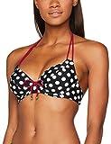 Pour Moi? Damen Bügel Bikinioberteil Starboard Halter Triangle, Black (Black Purple), 80E (Herstellergröße: 36DD)