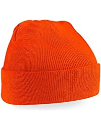 Beechfield Knitted Hat, Orange, One Size one size,Orange