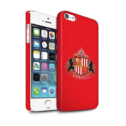 Offiziell Sunderland AFC Hülle / Matte Snap-On Case für Apple iPhone SE / Pack 6pcs Muster / SAFC Fußball Crest Kollektion Rot