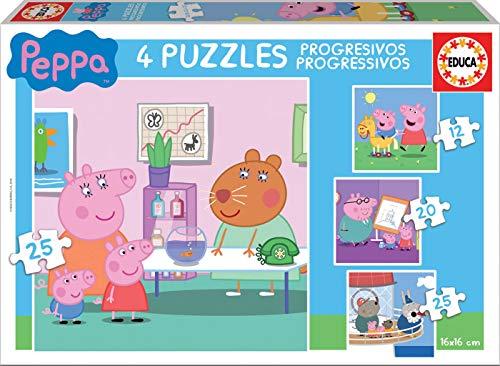 Peppa Pig - Puzzle Progressive 12-16-20-25 Pezzi