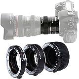 KOOKA KK-C68 Pro Auto Focus Macro Extension Tube Set for Canon EOS 5D2 5D3 6D 650D 750D 5D MarkII 60D AF Mount With 12mm 20mm and 36mm Tubes