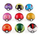 XINKUAN9 Pcs Pokemon Pikachu Pokeball Master Ball Cosplay Super Ball Poke Pokeball
