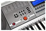 McGrey PK-6110USB Clavier avec 61 touches, 100 tonalités, 100 rythmes, lecteur USB-MP3, fonction apprentissage, bloc d\'alimentation et pupitre