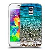 Head Case Designs Transparente Wellen Wundevolle Strände Soft Gel Hülle für Samsung Galaxy S5 Mini