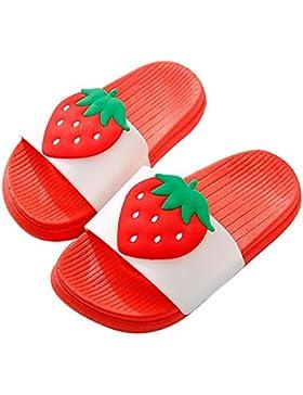 QZBAOSHU Niño Niña Playa Zapatillas Sandalias Verano Interior Baño Fruta Zapatillas para Niño 3-18 Años Edad