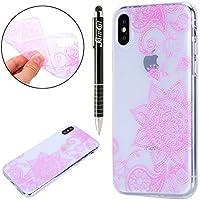 iPhone X Hülle,iPhone X Silikon Hülle Tasche Handyhülle,SainCat Flamingo Blumenfee Muster TPU Schutz Handy Hülle... preisvergleich bei billige-tabletten.eu