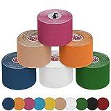 ALPIDEX Cinta Kinesiología 5 m x 5 cm Cinta Kinesiología 5 m x 5 cm, Color:Colores Surtido;Cantidad:6 Rollos