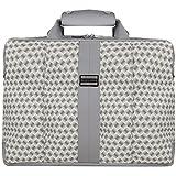 VanGoddy Unisex Zephyr Series Schutzhülle Laptop-Schulter-Taschen für Laptops mit einer Bildschirmdiagonale von 33,1-33,9 cm (12-13,3 zoll) Zoll) (Weiß/Grau)