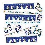 Baker Ross Sets de papelería con Unicornios de Colores para niños Bolsas Sorpresa de Fiestas Infantiles (Pack de 4)
