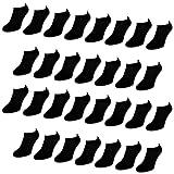 30 Paar Comfort Sneaker Socken - Schwarz - Damen & Herren - 40-46 - Naft