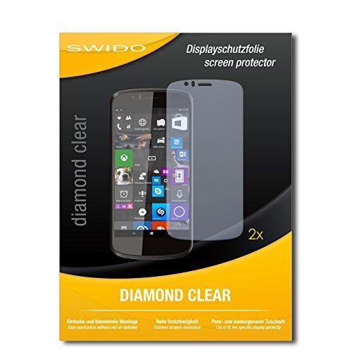 SWIDO 2 x Bildschirmschutzfolie Archos 50 Cesium Schutzfolie Folie DiamondClear unsichtbar