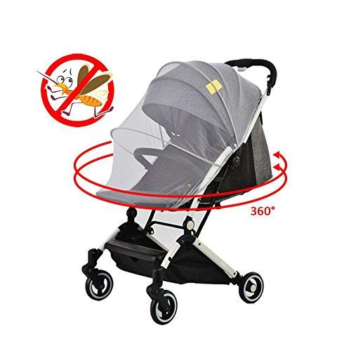 Waroomss Red antiinsectos universal - mosquitera para cochecito, silla de paseo, cuna de viaje - protección ideal contra avispas y mosquitos resistente y lavable - colores blanco