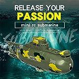 HUVE Mini-Fernbedienung U-Boot - Wiederaufladbare Simulation U-Boot Spielzeug, Mini-U-Boot Kinder Sommer Wasserspielzeug Wasserdicht Tauchen In Pools Lake Ponds
