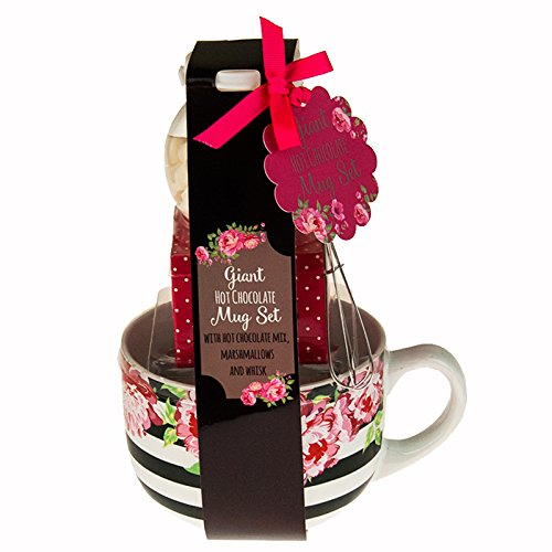 Giant Mug Hot Chocolate Tiered Gift Sets - Stripes with Flowers ...