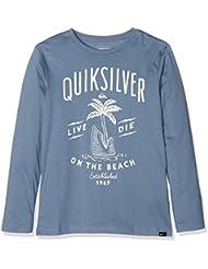 Quiksilver Ls ClassicYouth Shark Island - Camiseta de manga larga para niño, color verde, talla M