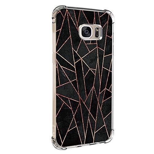 14chvily Kompatibel mit Galaxy S7 Hülle, Marmor-Design Silikon S7 Handyhüllen Bumper Ultra Dünn Durchsichtig TPU Schutzhülle für Galaxy S7 Edge (03, S7)