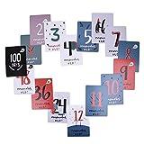 Baby-Meilenstein-Karten, Baby-Aufkleber (Schwangerschaft), erste Meilenstein-Aufkleber des Babys - Satz von 30 Foto-Karten, zum des ersten Jahres Ihres Babys in den Wochen, in den Monaten und in den denkwürdigen Momenten festzuhalten
