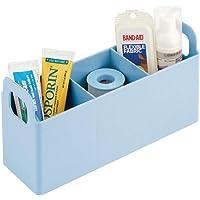 mDesign organisateur de cosmétiques avec poignées intégrées pour salle de bain – serviteur de salle de bain avec trois…
