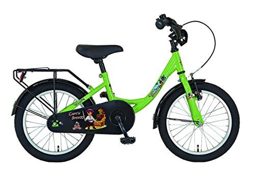 PROPHETE Kinderrad 16' EINSTEIGER, Dekor Capt'n Spokey, Farbe rot, Farbe grün