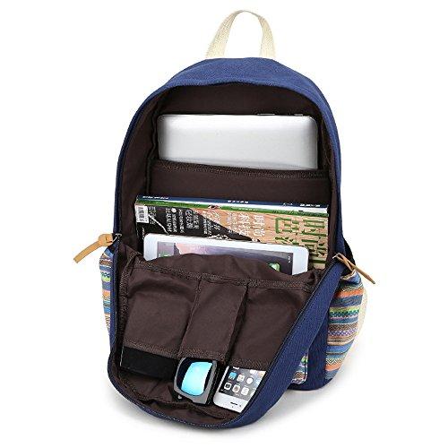Strisce Colorate Stampa Per Il Tempo Libero Tela Scuola Zaino Viaggio Portatile Zaino Spalla Libri Daypack Per Teen Boy Ragazza Rosa Rossa