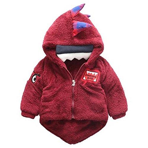 Für Teenager Mädchen Kostüm Ideen 80's (Barbarer Baby-Säuglings-Mädchen-Jungen-Dinosaurier-mit Kapuze Mantel-Mantel-Jacke-starke warme Kleidung (80,)