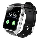 AGPtEK GT88 di Smart Watch, impermeabile resistente IP57 Bluetooth 4.0 connettività sportivo con cardiofrequenzimetro magnetica di ricarica Salute Esercizio Fitness Tracker per Android (argento)