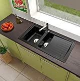 respekta Mineralite Spüle Küchenspüle Spülbecken Einbauspüle Boston 100 x 50