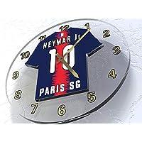 NEYMAR JR 10 PSG - PARIS SAINT GERMAIN FUßBALL TISCHUHR - FUSSBALL LEGENDS BEGRENZTE AUSGABE - NEUES ACRYLISCHES HEMDENTWURF!!!