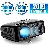 Proiettore, ABOX A2 Videoproiettore Risoluzione Nativa HD 1280*720P, 3000 Lumen Mini Proiettore Portatile LCD per Casa e Viaggio, Compatibile con Fire TV Stick / PS4 / TV Box/Cellulare/Micro SD