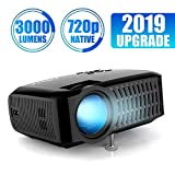 """Proyector ABOX 3000 Lúmenes, Resolución Nativa 720p LED Mini Portátil Proyector, Soporte 1080P Full HD, 32 - 176"""", Apoyo Fire TV Stick/Xbox/PS4/PC/Mac/iphone/Android con mutilpes interfaces"""
