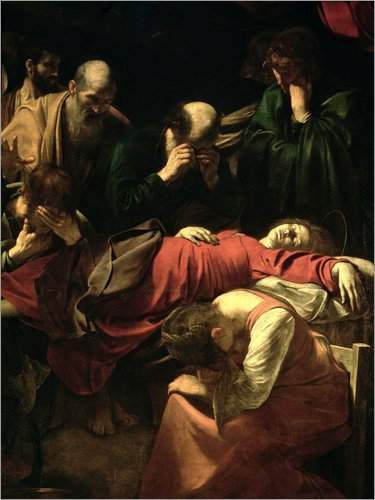 Posterlounge Cuadro de Madera 70 x 90 cm: The Death of The Virgin de Michelangelo Merisi (Caravaggio) / Bridgeman Images