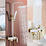 White Antique Shower Set Pressurized Nozzle Wall Type Bathtub Faucet