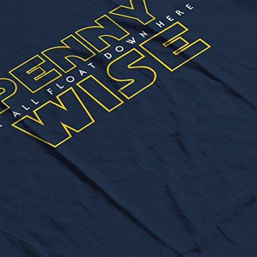 Pennywise We All Float Down Here IT Star Wars Women's Hooded Sweatshirt Navy Blue