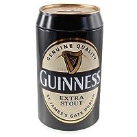 """Il salvadanaio birra Guinness® è 7.75""""H x 4.25D con un coperchio rimovibile e spacco nella parte superiore per il cambiamento facile deposito. Questo salvadanaio è la perfetta replica di una vera lattina di birra Guinness®, ideale per in ca..."""
