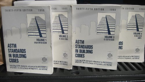 Astm Standards in Building Codes 1998: Specifications, Test Methods, Practices, Classifications, Terminology