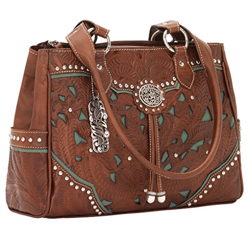 American West Tote Antique Brown/Turquoise